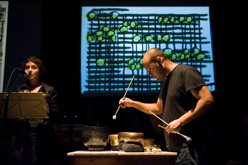 OF MUSIC IN LANGUAGE, SONIFICATIONS / september 2011, with Orlando Aguilar Velasquez © photo Guus Rijven